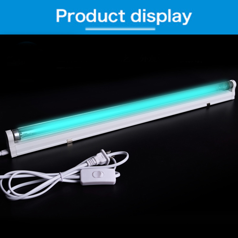 Timer UVC Sterilizer Lamp Germicidal Light Ultraviolet Ozone Generator Quartz Disinfection Deodor Tube Kill Dust Mite Eliminator