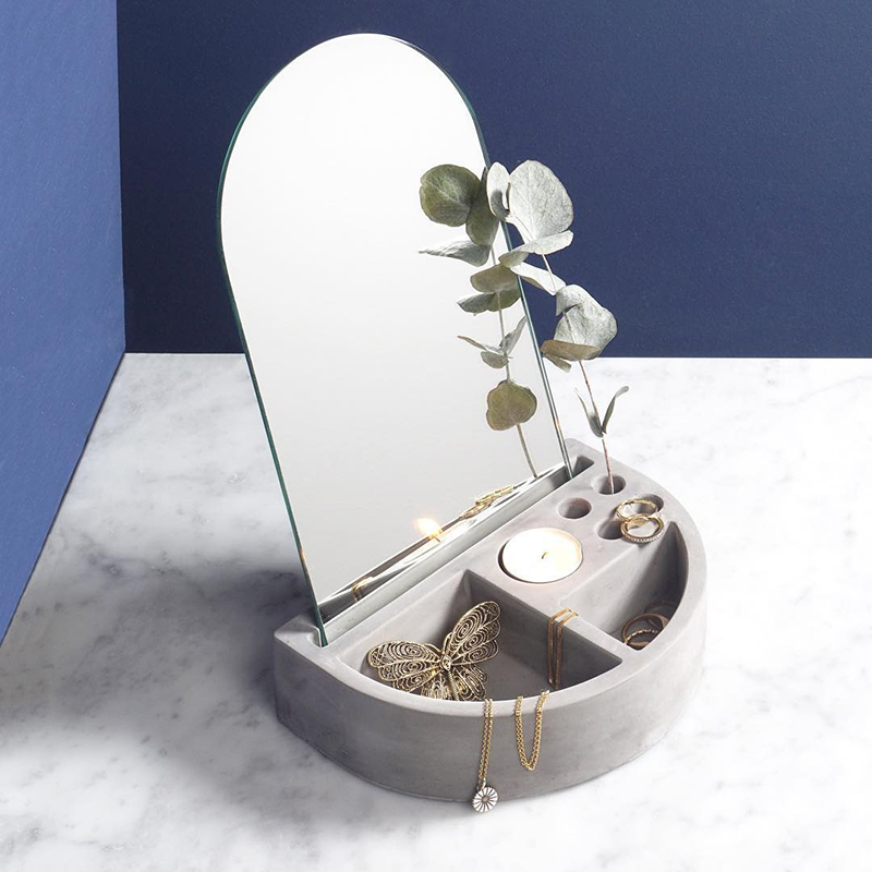 Cadre de réception de bijoux en ciment moule en Silicone béton cadre de brosse en gypse chandelier afficheur de bureau multifonctionnel moule