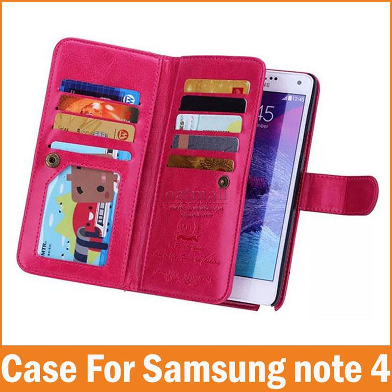 Luxury Wallet Stand PU Leather Case Samsung Galaxy NOTE 4 fundas Card Holders Photo Frame Flip Mobile phone Bags Accessories - Oasis Trading Company LMT store