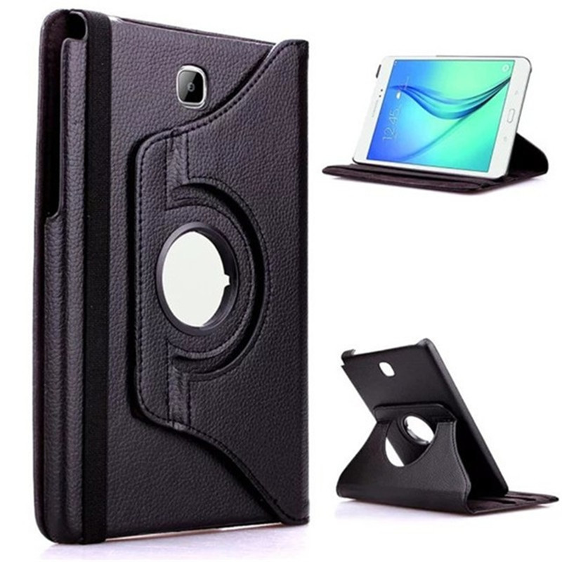 360 Degree Rotating PU Leather Flip Cover Case For Samsung Galaxy Tab A 9.7 SM-T550 T551 SM-T555 T550 Taba 9.7 Tablet Case Glass