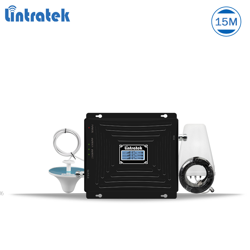 Lintratek mobile signal booster gsm 3g 4g repeater 1800 3g amplifier 2100 booster gsm 900 tri