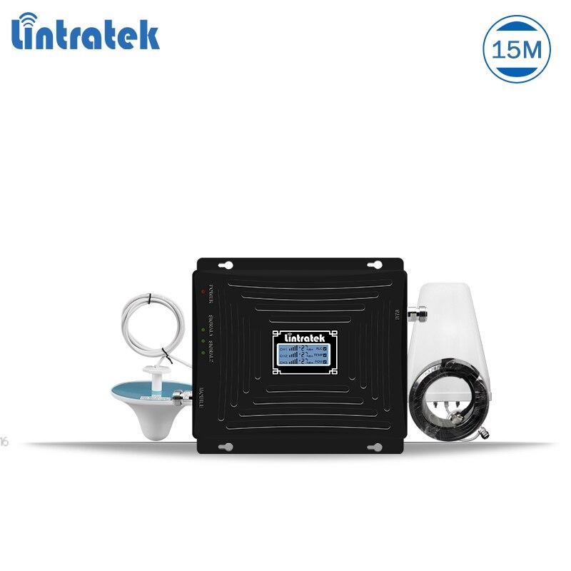 Lintratek mobile signal booster gsm 3g 4g répéteur 1800 3g amplificateur 2100 booster gsm 900 tri bande répéteur amplificateur de signal #5