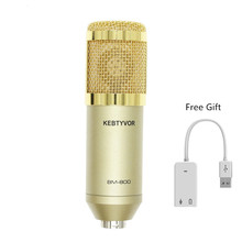 BM-800 High Quality Karaoke Condenser Sound Recording KTV Microphone with Shock Mount for Radio Braodcasting Singing Pink недорого