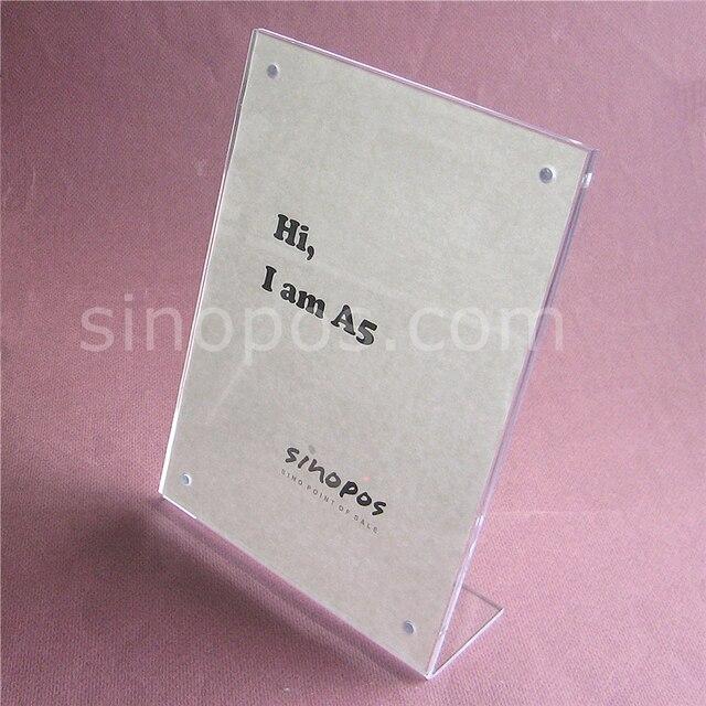 Us 199 Magnetyczne Litery L Pochylony Akryl Ramka Na Zdjęcia Stojak A5 A4 Jasne Plastikowe Karty Rama Tag L Wyświetlacz Plakat Zaloguj Holder