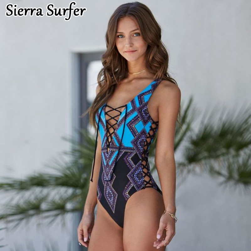 Bathing Suit Swimwear Women One Piece Sports Swimsuit Female Swim Woman Plavky Rashguard 2018 Sexy Flower 2046 Animal Polyester