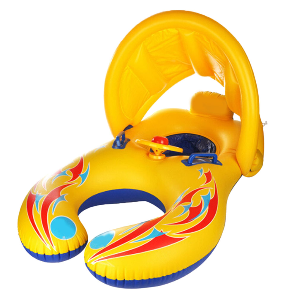Baby Swimming Ring Toy Kids Baby Float Seat Circle Double Inflatable Floats Bathtub Pool Toy Cartoon Float Swimming Pool