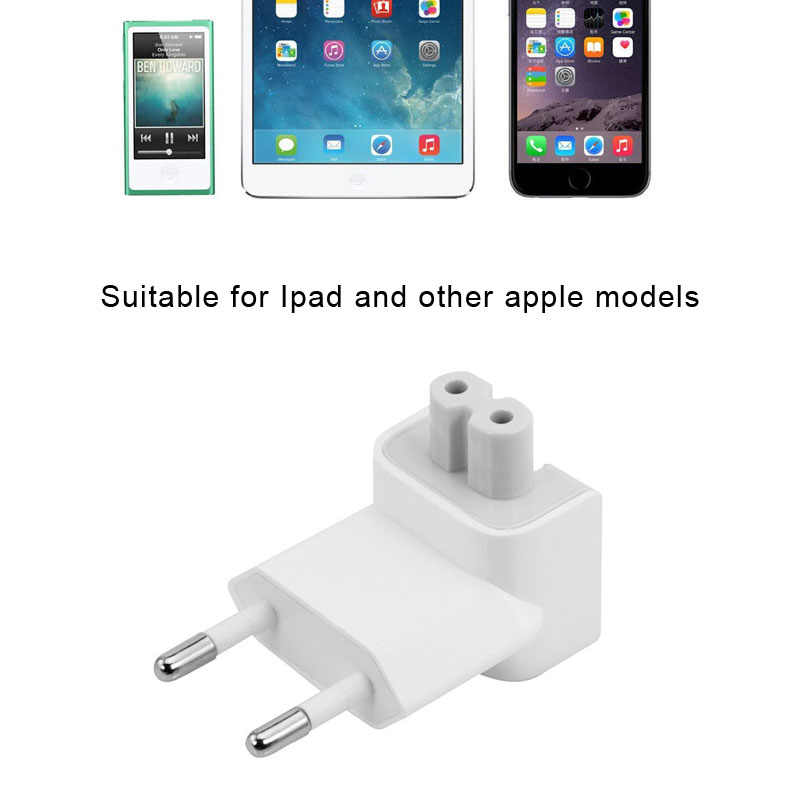 Hohe Qualität Tragbare Weiß US zu EU Stecker Reisen Ladegerät Konverter Adapter für Apple MacBook/Pro/Air/iPad/iPhone Zubehör