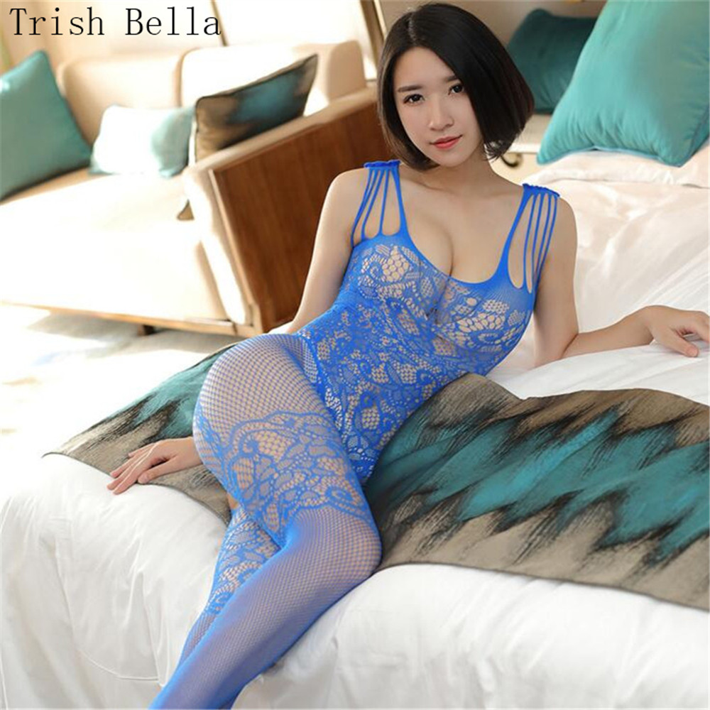 transparent String Camisole Conjoined Tighten Net clothing Buttocks lingerie bodystocking body sexy costumes catsuit open crotch in Teddies Bodysuits from Novelty Special Use