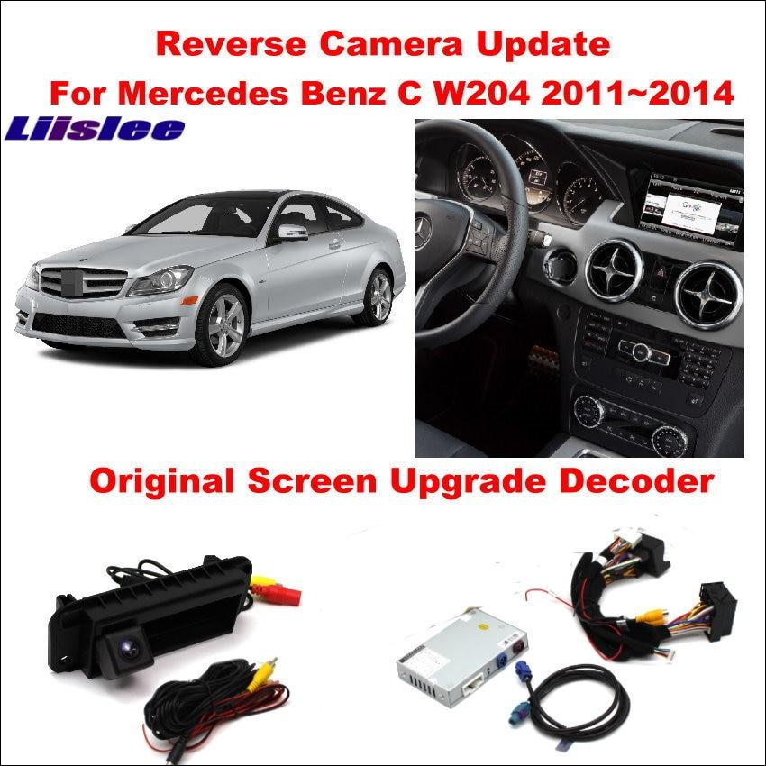 Liislee For Mercedes Benz C W204 2011 2014 Original Screen Update Reversing Track Image Reverse Camera