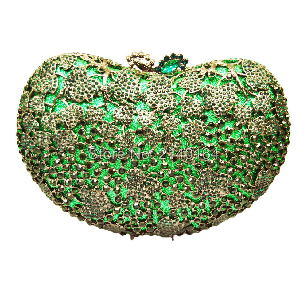 Round Luxury Crystal Diamond turquoise Clutch  Bag wedding Party Purse Wholesale Luxury Hollow Out Crystal Evening Bag88434 luxury crystal clutch handbag women evening bag wedding party purses banquet