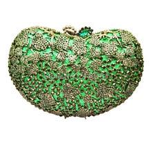 Runde Luxus Kristall Diamant türkis hochzeit Party Geldbörse Großhandel Luxus Aushöhlen Kristall Abend Bag88434