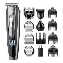 HATTEKER профессиональный триммер для волос водонепроницаемый 5 in1машинка для стрижки волос электрическая машина для резки волос тример для бороды