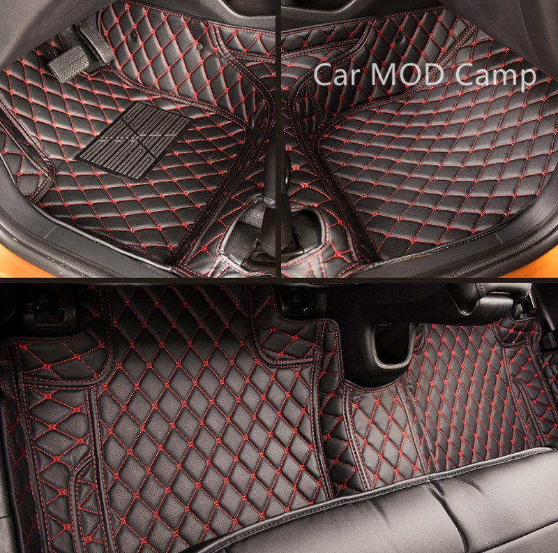 For Honda CRV CR-V 2017 2018 Car Artificial Leather Interior Floor Carpets Foot Mat 1 Set Car Styling accessories! colts car floor mat set of 2 nfl