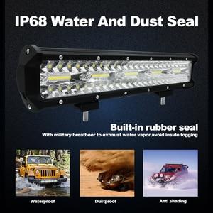 Image 4 - CROSSFOX Worklight LED 120W 300W מבול ספוט קומבו Beam 36W 60W 72W LED עבודה אור מנורת בר לoffroad 4x4 רמות טרקטור SUV