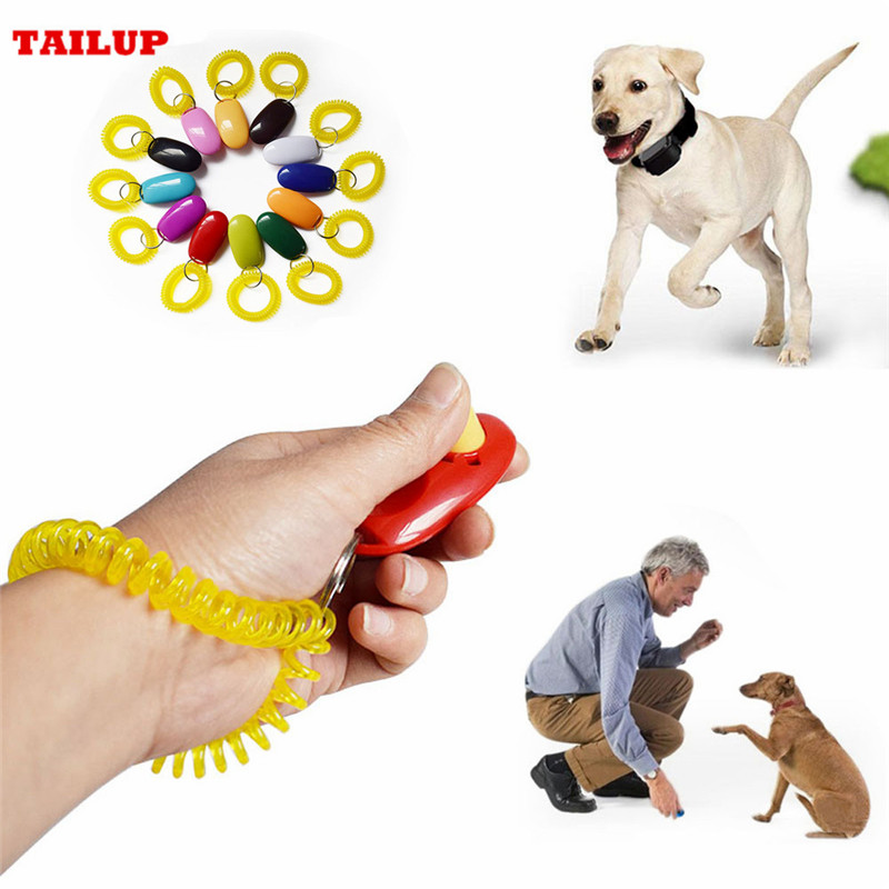 Universal Remote Portable Animal Dog Button Clicker Sound Trainer Pet Training Tool Control Wrist Band Accessory New Arrival
