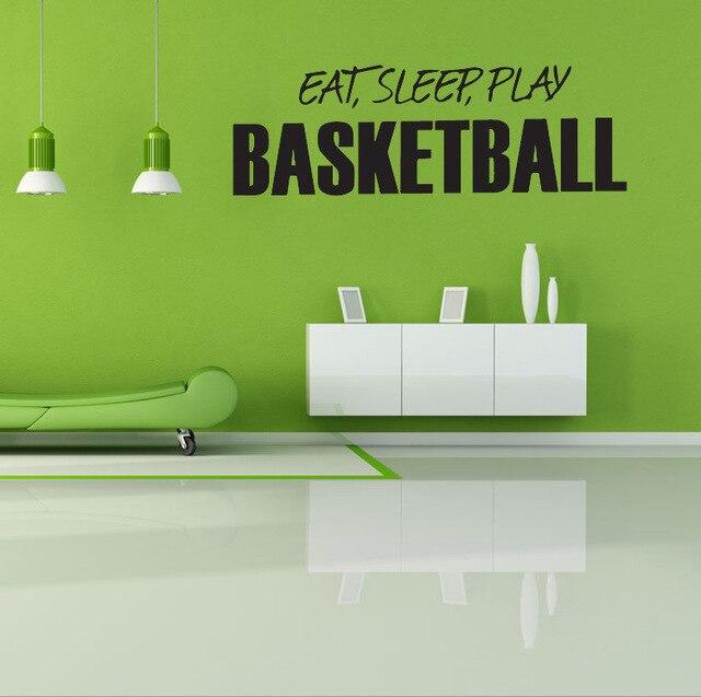 Chaude Stickers Muraux Décoration D'Intérieur Basketball Papier