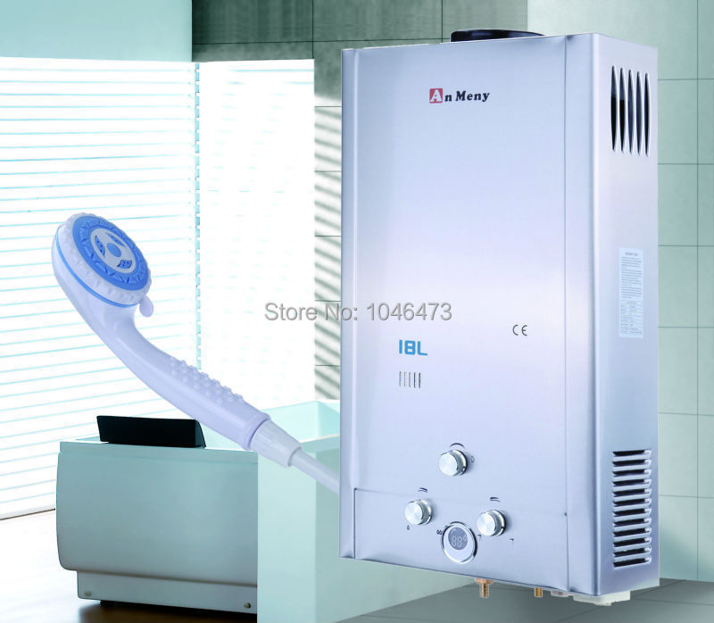 ship from us 18l lpg gas propane tankless instant hot water heater boiler with digital display shower head