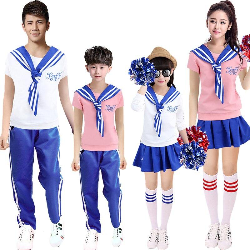 Cheerleader Costume Cheerleading costume adult female student suite Korean cheerleading man child