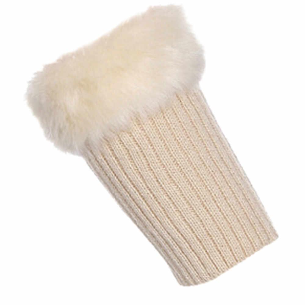 Женские теплые длинные вязанные носки Зимний теплый вязаный гетры из волокон акриловых волокон для девочек вязаная шапка носки для ботинок