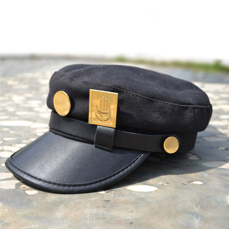 Anime Jojo's Bizarre Adventure Hat Jotaro Kujou Army Military Unisex Cotton Cap