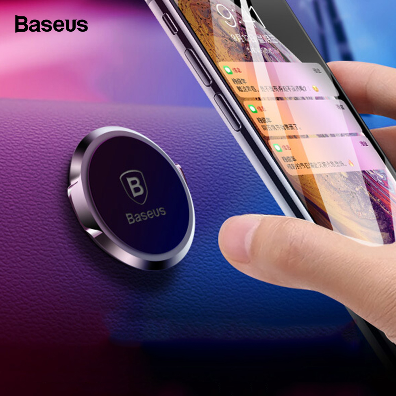 Baseus Magnetic Car Phone Holder Stand Universal Magnet Mount Holder In Car For IPhone 11 Pro Max X Samsung S9 Cellphone Support