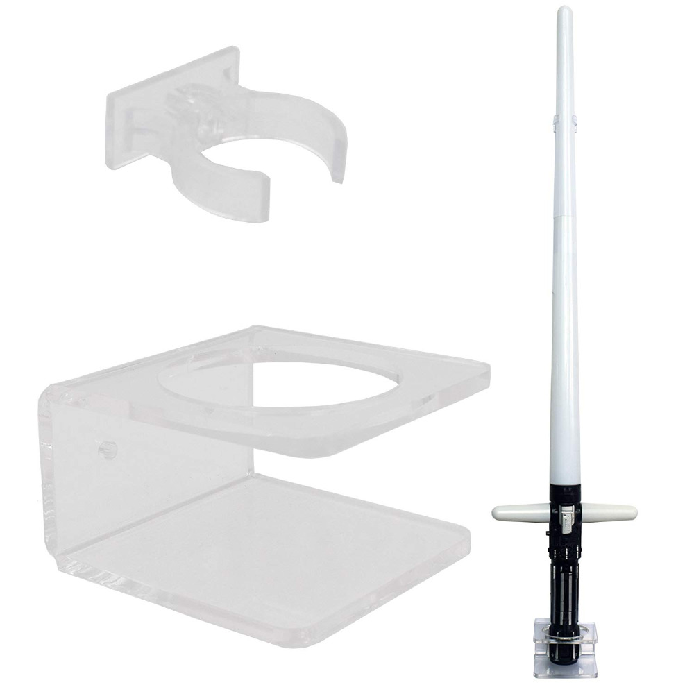 Clear Light Saber Wall Mount Wall Rack Wall Holder - Hardware Included.