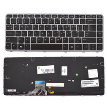 Keyboard for  for H P Elitebook Folio 1040 G1 / 1040 G2 Laptop Silver Frame Backlight цена и фото