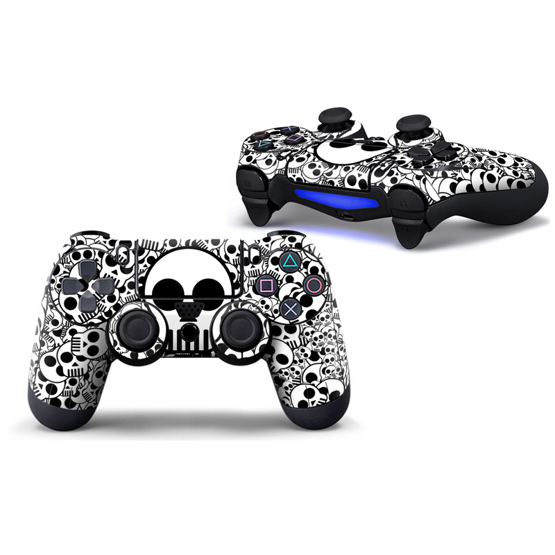 2pcs controller skin sticker faceplates for PS4 Controller Skin vinyl Decal Sticker Cover for PlayStation 4 DualShock Wireless