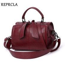 Reprcla bolsa de mão feminina elegante, de ombro, de couro pu, sacola de mão
