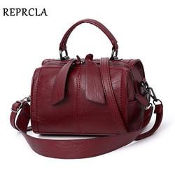 Reprcla moda elegante bolsa feminina bolsa de ombro alta qualidade sacos crossbody designer de couro do plutônio das senhoras sacos mão tote