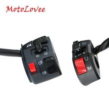 MotoLovee, 22 мм, мотоциклетные переключатели, мотоциклетная Роговая кнопка, сигнал поворота, Электрический противотуманный светильник, пусковой руль, переключатель контроллера
