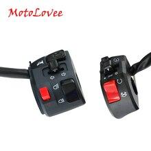 MotoLovee 22mm motosiklet anahtarları motosiklet korna düğmesi dönüş sinyali elektrikli sis lamba ışığı başlangıç gidon kontrol anahtarı