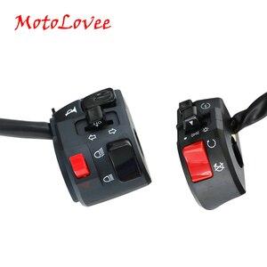 Image 1 - MotoLovee 22mm 오토바이 스위치 오토바이 경적 버튼 회전 신호 전기 안개 램프 라이트 시작 핸들 바 컨트롤러 스위치