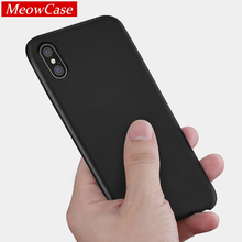 MeowCase phone cases For iPhone Leather cover X 6 6s 8 7 Plus Case coque high quality luxury cover for iPhone PU leather 6s case