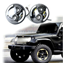 fast shipping good quality  2PCS 7″ Round 47.5W Cree LED Driving Light Headlights Turn Signal Light Lamp for Jeep Wrangler