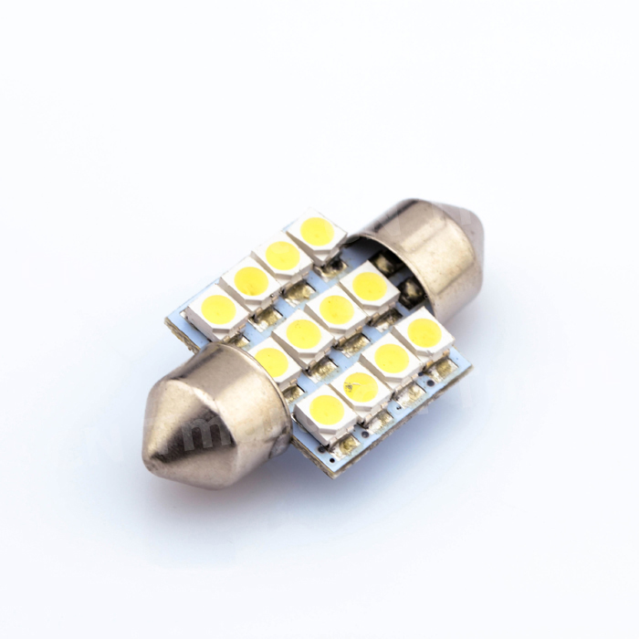 Best Price Car Festoon Dome 42mm 12 LED 3528 SMD White Auto Interior Reading Map Lights Lamp Bulb DC12V 31/36/39/41MM wholesale white 12 led chips cob 2w car auto festoon dome interior led lights lamp reading bulb dc12v icarmo