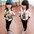 Baby Girls Bomber Baseball Jacket Fashion Toddler Kid Cardigan Blazer Jacket Coat Graffiti Fashion Next Children Outwear Clothes