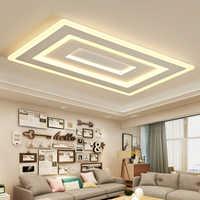 Weißes Quadrat Moderne Led Kronleuchter lustre Für Wohnzimmer Schlafzimmer Studie Zimmer Home Deco AC85-265V kronleuchter beleuchtung