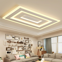 White Square Modern Led Chandelier lustre For Living Room Bedroom Study Room Home Deco AC85 265V chandelier lighting
