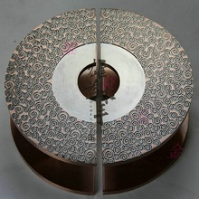 Semicircular Antique Chinese carved wood door Handle bronze handle European modern glass door handle