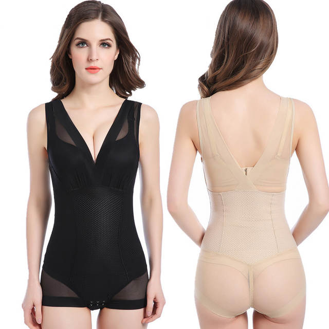 6c3c3c151ea placeholder Sexy Lady Full Body Waist Trainer Shaper Breathable Corset  Shapewear Bodysuit Women s Tummy Control Underbust Slimming