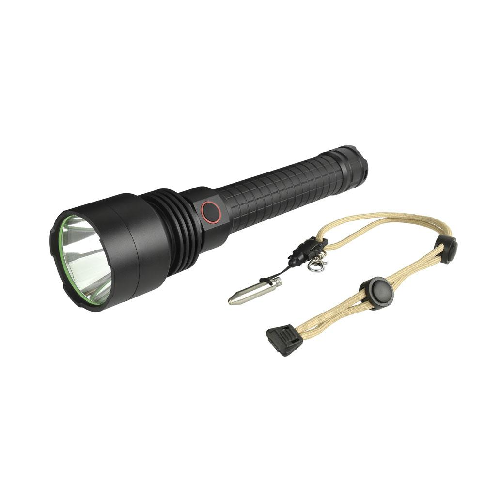 LumiParty Outdoor Portable Strong Light Flashlight LED Aluminum Alloy Torch Light Lamp with Rope Awl