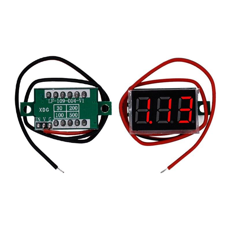 100pcs Digital Voltmeter 0 36 DC4 5V 30V Digital Voltmeter Voltage Panel Meter Electromobile Motorcycle Car