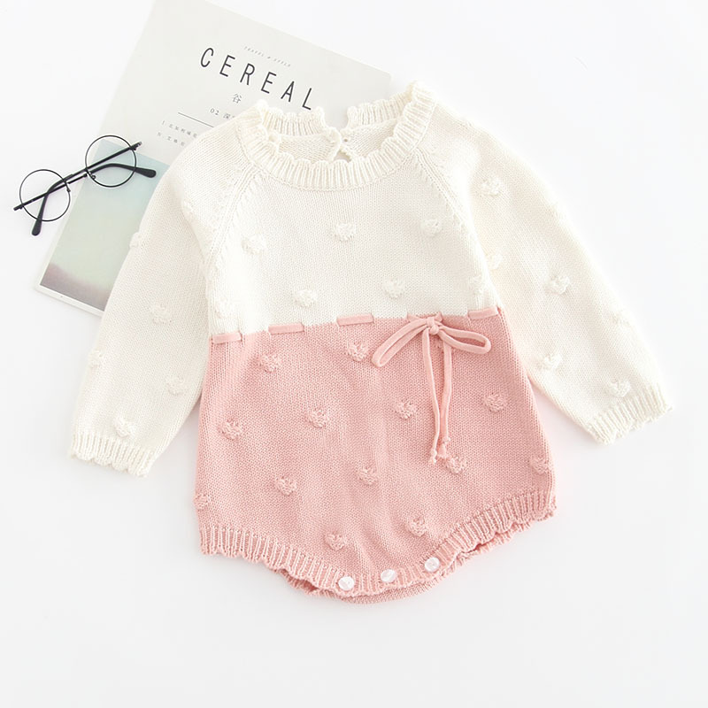 Image 2 - Baby Knitted Conjoined Clothes Autumn Kazakhstan 0 1 2 Years Old Childrens Sweaters  Farts And Climbing Baby BodysuitsBodysuits   -