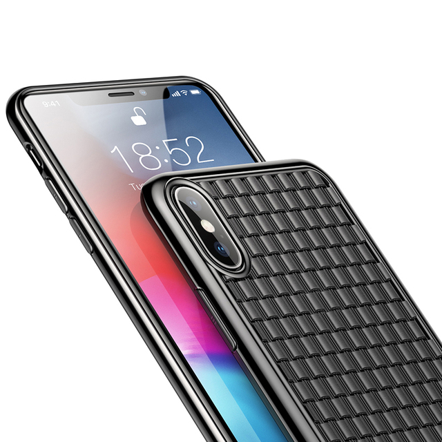 Luxury Grid Pattern Weave Soft Silicone Case – Apple iPhone