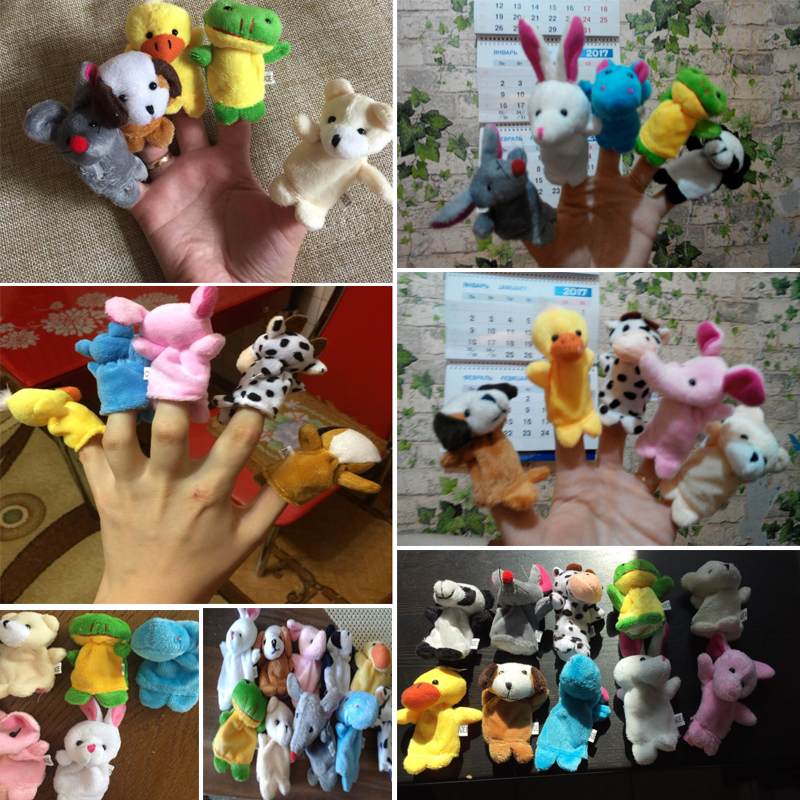 10pcsLot-Cartoon-Animal-Velvet-Finger-Puppet-Finger-Toy-Finger-Doll-Baby-Cloth-Educational-Hand-Toy-Story-4