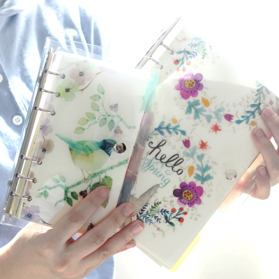 Transparent Cover Spiral Notebook A6 A7 A5 Binder Notebook Loose Leaf Grid Notebook And Blank Notebook Set