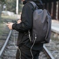Hk Laptop Bag 15 6 Inch Men Fashion Waterproof Shoulder Bags Anti Theft USB Charging Handbags
