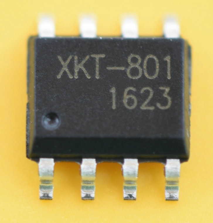 XKT-801 High Power Long Distance Wireless Power Supply Chip Wireless Transmission IC 20mm distance output 5v1a long distance high current wireless power supply charging transmission module program