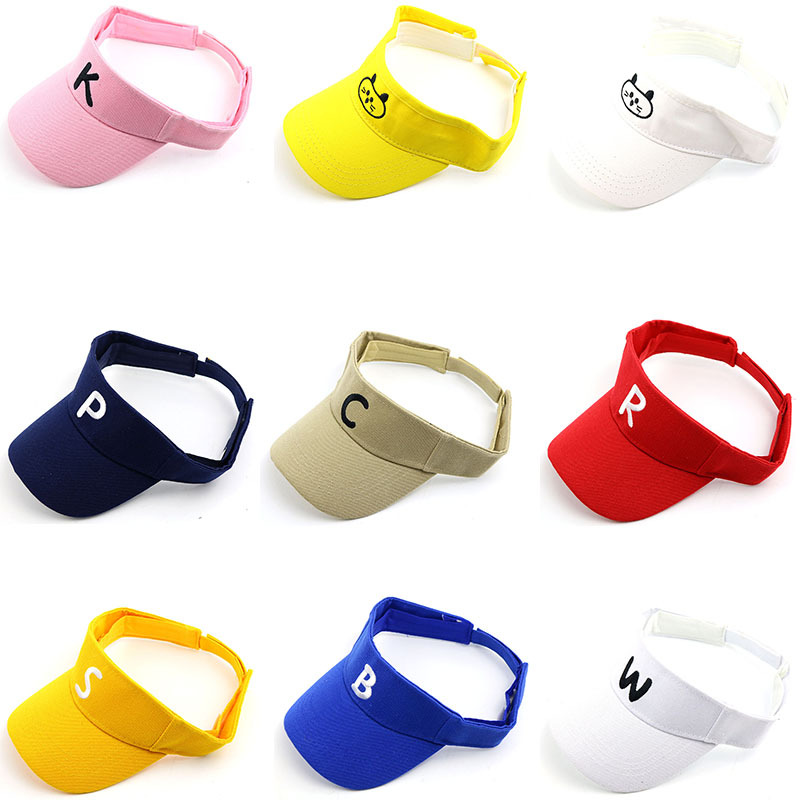 Simple Style Fashion Sunhat Children Empty Top Hat Healthy Outdoor Sunscreen Travel Sports Summer For Kids Boys Girls